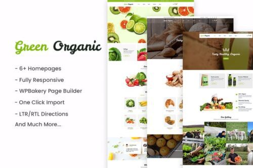 پوسته وردپرس محصولاک ارگانیک GreenOrganic - Organic & Bakery WordPress Theme