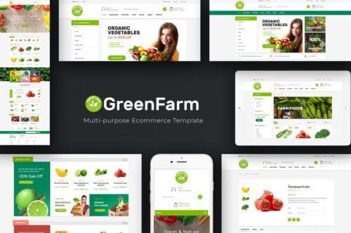 پوسته وردپرس محصولات ارگانیک Greenfarm - Organic WooCommerce WordPress Theme