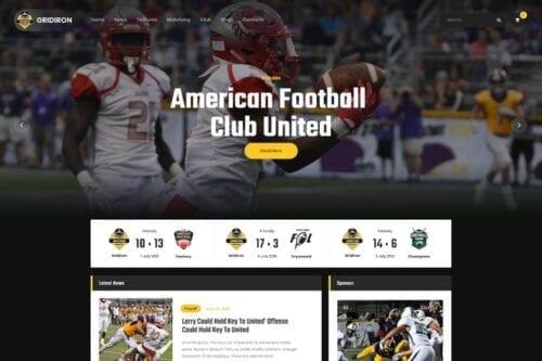 پوسته وردپرس فوتبال Gridiron | American Football & NFL Team WordPress