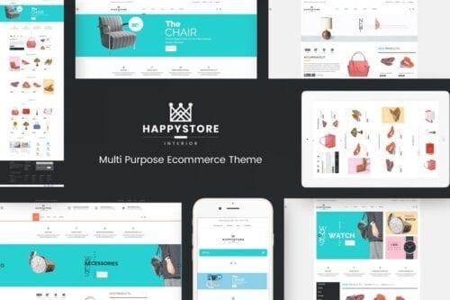 پوسته وردپرس فروشگاهی HappyStore - WordPress WooCommerce Theme