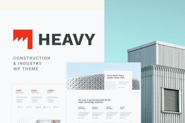 قالب وردپرس صنعتی Heavy - Industrial WordPress Theme