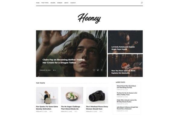 پوسته وردپرس بلاگ مدرن Heeney - Modern Blog WordPress Theme