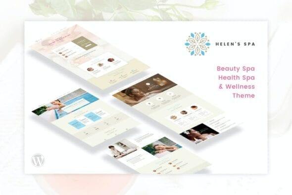 قالب وردپرس سلامت و زیبایی Helen's Spa - Beauty, Health Spa & Wellness Theme