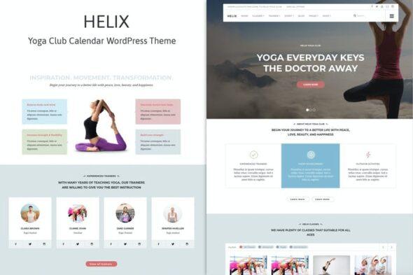 پوسته وردپرس یوگا و مدیتیشن Helix - Yoga Club Calendar WordPress Theme