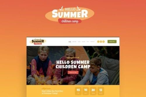 قالب وردپرس کودکان Hello Summer