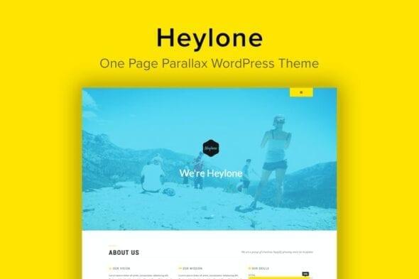 پوسته وردپرس تک صفحه ای Heylone - One Page Parallax WordPress Theme