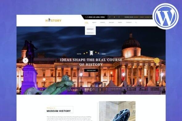 پوسته وردپرس موزه و نمایشگاه History - Museum & Exhibition WordPress Theme