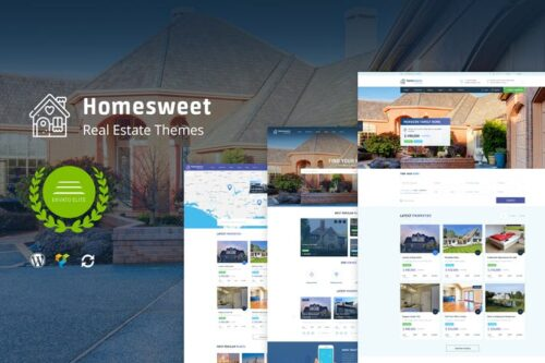 پوسته وردپرس آژانس املاک HomeSweet - Real Estate WordPress Theme