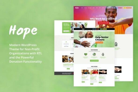 قالب وردپرس خیریه Hope - Non-Profit, Charity & Donations WP Theme
