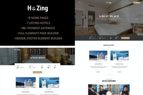 پوسته وردپرس رزرواسیون هتل Hozing - Hotel Booking WordPress Theme