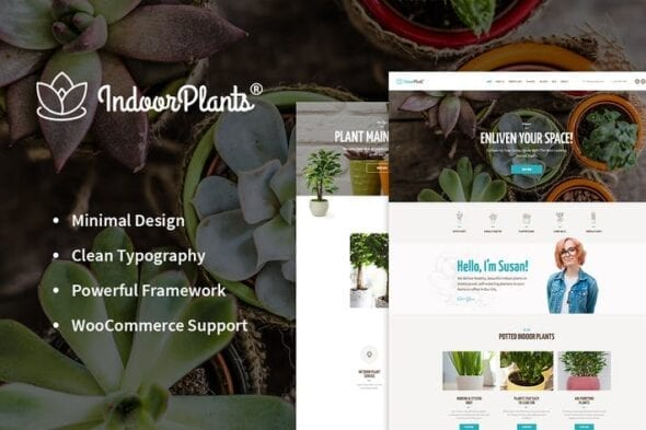 پوسته وردپرس گیاهان آپارتمانی Indoor Plants | Houseplants store & Gardening WP