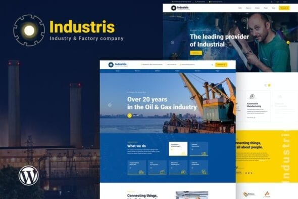 قالب وردپرس صنعتی تجاری Industris - Factory & Business WordPress Theme