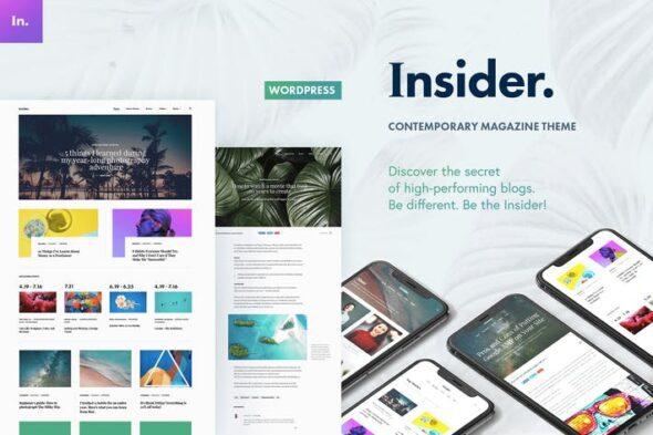 قالب وردپرس بلاگ و مجله Insider - Contemporary Magazine and Blogging Theme