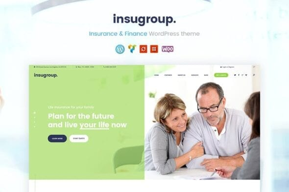 پوسته وردپرس بیمه Insugroup | A Clean Insurance & Finance WP Theme