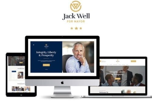 قالب وردپرس سیاسی و سازمانی Jack Well