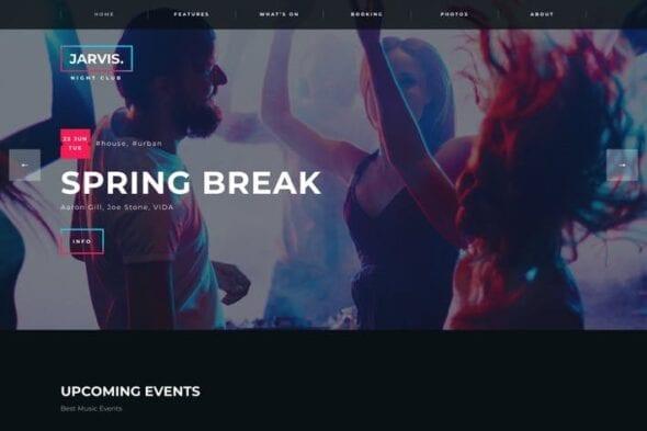 قالب وردپرس کنسرت و چشنواره Jarvis - Night Club, Concert, Festival WordPress
