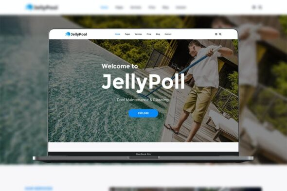 پوسته وردپرس خدمات نظافت استخر JellyPool Pool Maintenance