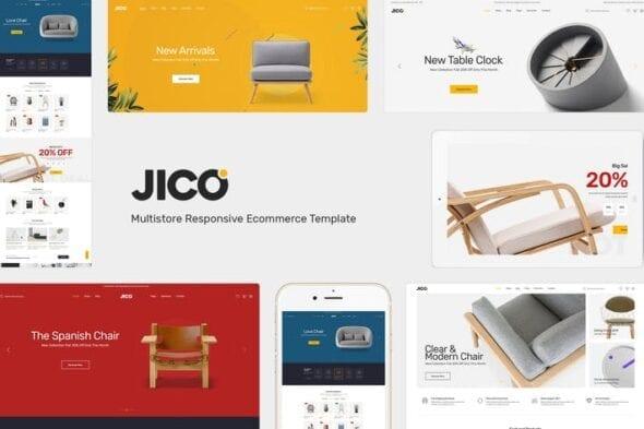 قالب وردپرس فروشگاهی مبلمان و دکوراسیون Jico - Furniture & Decor for WooCommerce Wordpress