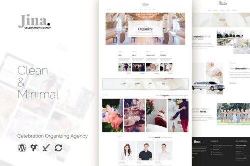 قالب وردپرس تشریفات مجالس Jina - Celebration Agency WordPress Theme