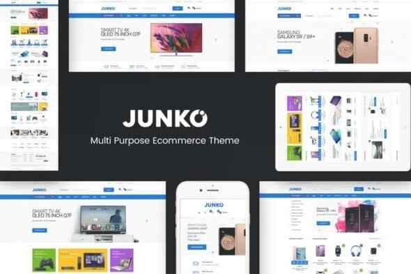پوسته وردپرس فروشگاهی Junko - Technology Theme for WooCommerce WordPress