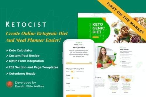 پوسته وردپرس رژیم و تناسب اندام Ketocist - Keto Diet WordPress Theme