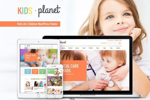 پوسته وردپرس کودکان Kids Planet - A Multipurpose Children WP Theme