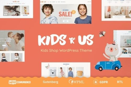 قالب وردپرس فروشگاهی Kids R Us - Toy Store and Kids Clothes Shop Theme