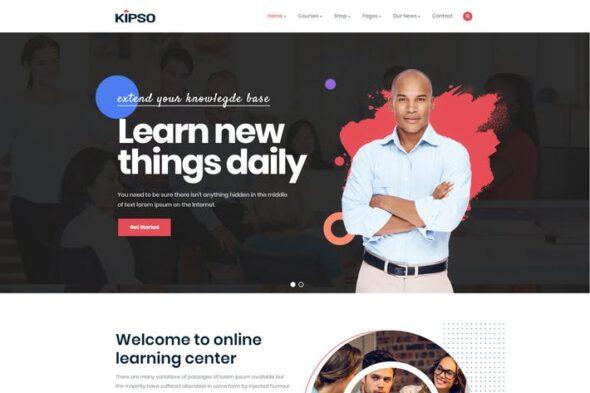 قالب وردپرس آموزش آنلاین Kipso - Education LMS WordPress Theme