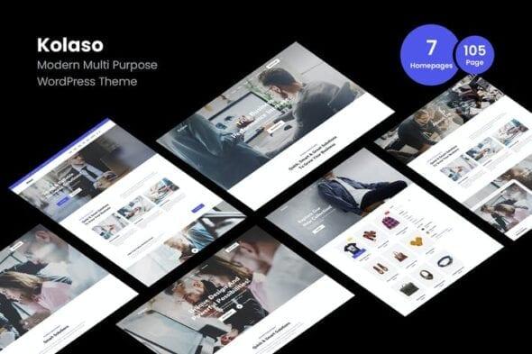 قالب وردپرس چندمنظوره Kolaso - Modern Multi-Purpose WordPress Theme