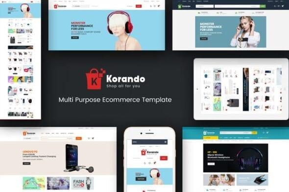 قالب وردپرس فروشگاهی Korando - Theme for WooCommerce WordPress