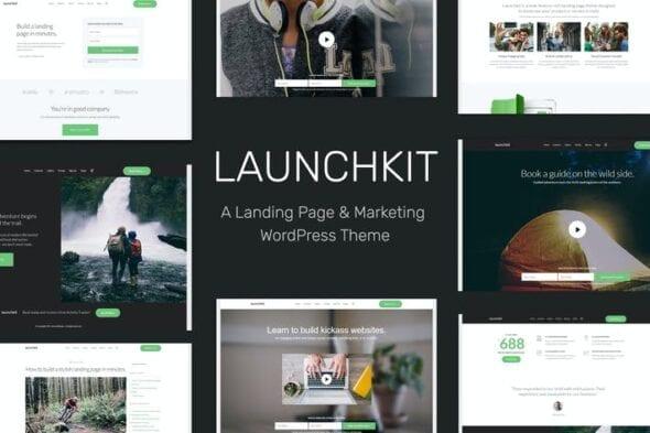 قالب وردپرس مارکتینگ و بازاریابی Launchkit Landing Page & Marketing WordPress Theme