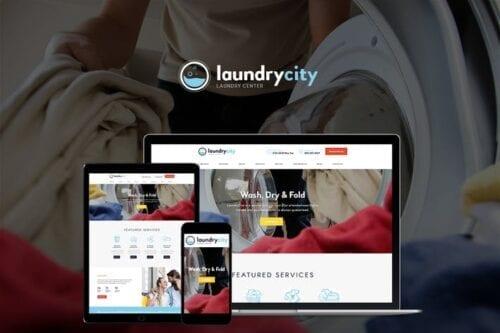 قالب وردپرس خدمات خشکشویی و لباسشویی Laundry City   Dry Cleaning & Washing Services