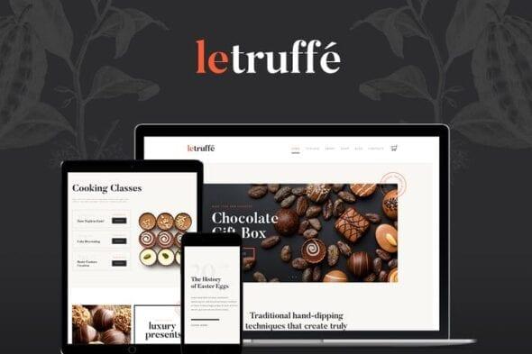 قالب وردپرس شیرینی و شکلات Le Truffe