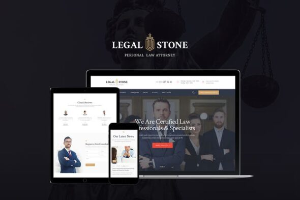قالب وردپرس حقوقی Legal Stone