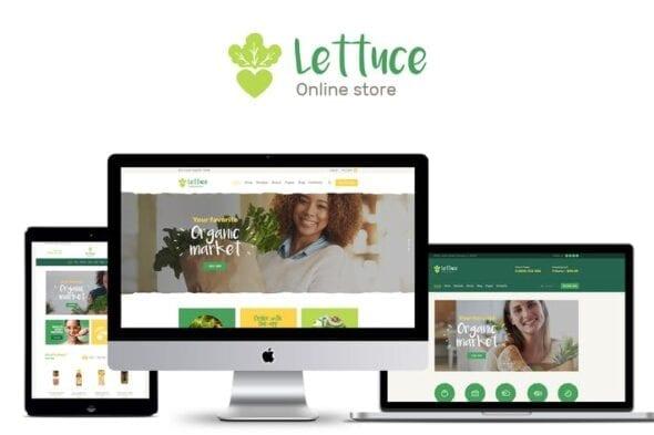 پوسته وردپرس محصولات ارگانیک Lettuce