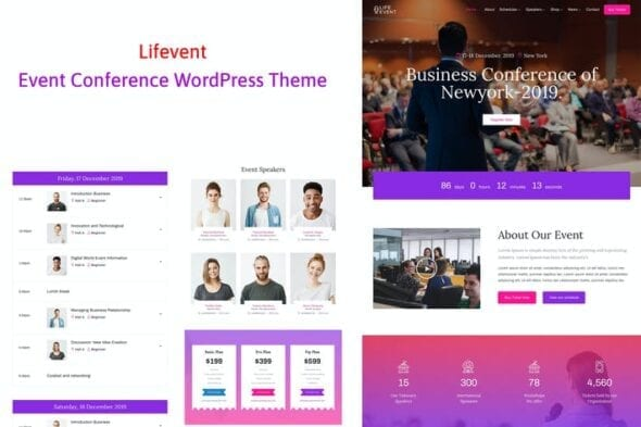 قالب وردپرس همایش و کنفرانس Lifevent - Conference Event WordPress Theme