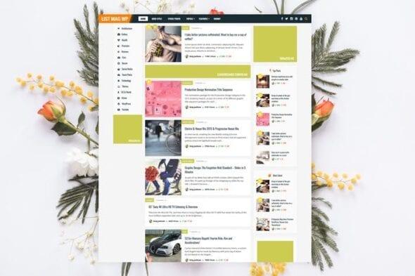 قالب وردپرس خبری مجله ای شخصی List Mag WP - Personal News / Magazine Theme