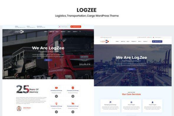 قالب وردپرس لجستیکی و حمل و نقل Logzee - Logistics Cargo WordPress Theme