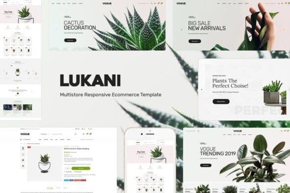 قالب وردپرس فروشگاه گل و گیاه Lukani - Plant Theme for WooCommerce WordPress