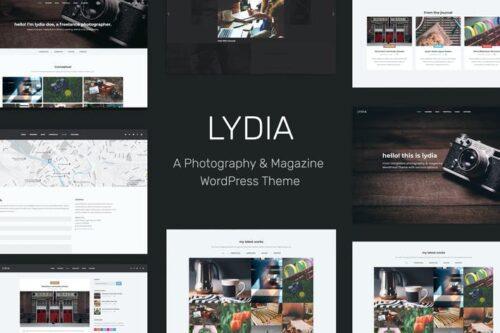 پوسته وردپرس مجله Lydia - Photography & Magazine WordPress Theme