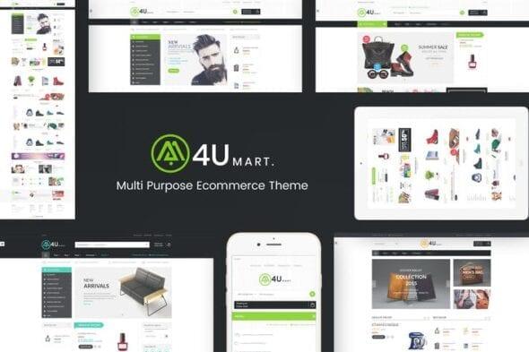 پوسته وردپرس فروشگاهی M4U - Multi Store Responsive WordPress Theme