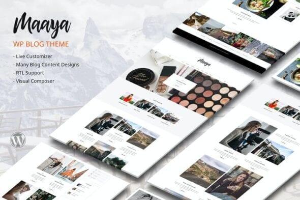 قالب وردپرس بلاگ Maaya Blog - Travel Blog, Personal Blog