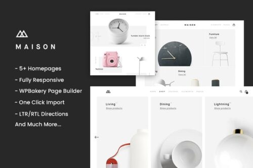 پوسته وردپرس تجارت الکترونیک Maison - Minimalist eCommerce WordPress Theme