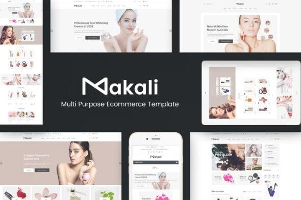 قالب وردپرس لوازم آرایش و زیبایی Makali - Cosmetics & Beauty Theme for WooCommerce