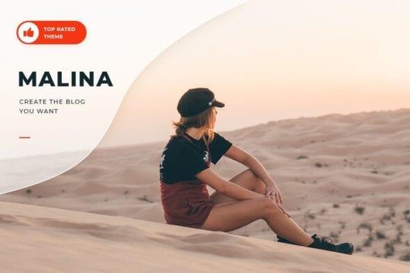 قالب وردپرس بلاگ شخصی Malina - Personal WordPress Blog Theme