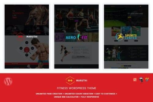 قالب وردپرس فیتنس و بدنسازی Maruthi Fitness - Fitness Center WordPress Theme