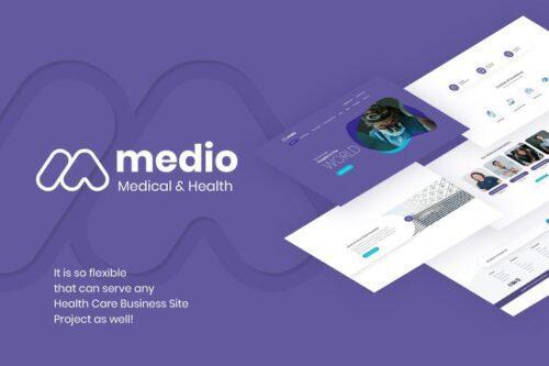 قالب وردپرس پزشکی Medio - Medical Organization WordPress Theme