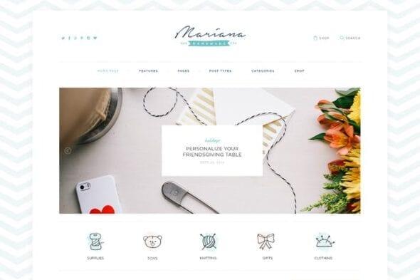 قالب وردپرس فروشگاه صنایع دستی Melania   Handmade Blog & Shop WordPress Theme