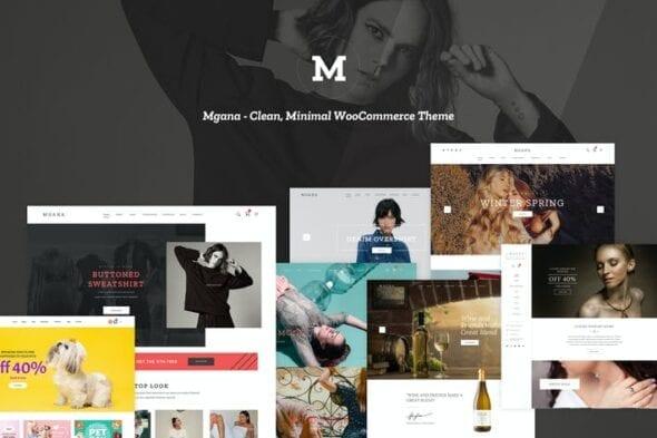 پوسته وردپرس فروشگاهی Mgana - Clean, Minimal WooCommerce Theme