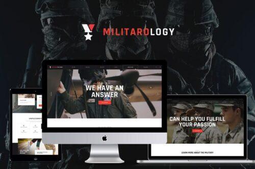 پوسته وردپرس نظامی Militarology